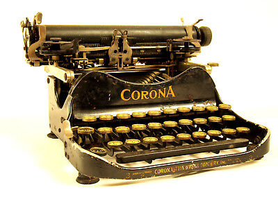 1919 Corona 3  folding typewriter, complete for spares, repair or display