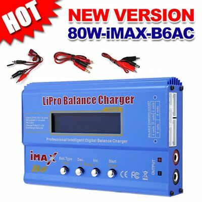 New iMAX B6 LCD Screen Digital RC Lipo NiMh Auto Battery Balance Charger QW