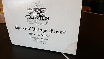 Department 56 Dickens Village Royal Theatre 55840 1989 Heritage Village Retired