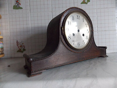 Vintage Napoleon Hat-Shaped Wooden Clock Housing + Glass Door,