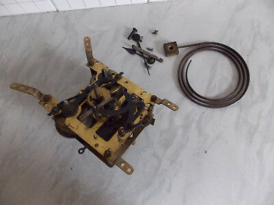 Antique E&K Wind Up Mechanical Clock Movement W/ Chime Bar. Parts Repair