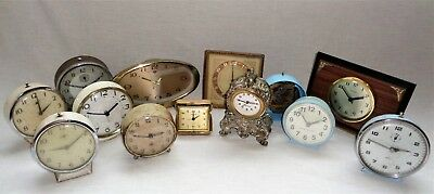 Large Job Lot Vintage Alarm Clocks / Parts for Spares Repairs