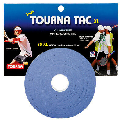 Tourna Tac XL 30 Pack Tennis Overgrip Blue - Free P&P