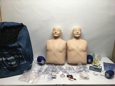 Laerdal Little Family 2-Pack CPR Training 2 Adult Manikins Plus Accessories