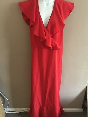 Red dress stretch prom cocktail party long Dress New With Tags Size 24