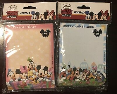 Mickey Mouse And Friends Disney World Cute Blue and Pink Notepads