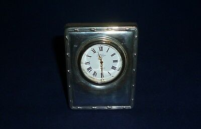 Carr's of Sheffield Silver Mounted Clock, Sheffield 1993