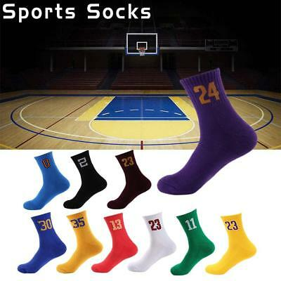 Men's Soft Cycling Riding Bicycle Socks Breathbale Basketball Number Sport Socks