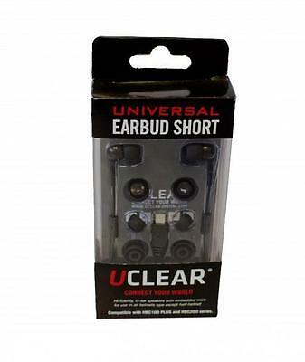 UClear - UEA-S 11012 - Hi-Fidelity stereo Universal Earbuds, Short, boomless mic