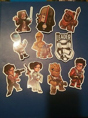 10 of Star Wars themed stickers ideal for laptops, folders, cases etc