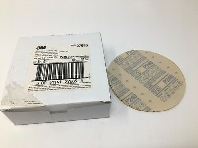 "3M NX Hook And Loop Paper Abrasive 6"" Discs, P240 Grit, Box Of 50, 27685"
