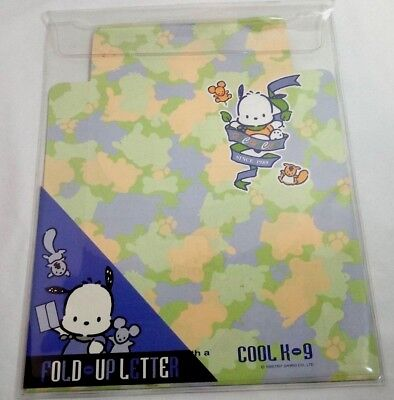 Sanrio 1997 Pochacco Stationery Fold Up Letter Writing Envelope Cool K9 Pup Rare