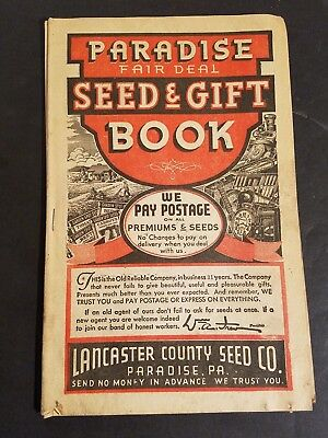 1938 LANCASTER COUNTY SEED CO. Paradise Seed and Gift Book