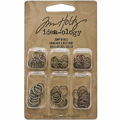 Tim Holtz Idea-Ology - Metal Fasteners - Jump Rings - 75 Pieces