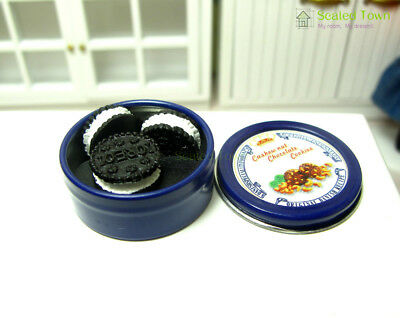 Miniature Cookies Box Jar & Oreo Biscuit Doll House Food Grocery Accessory Decor