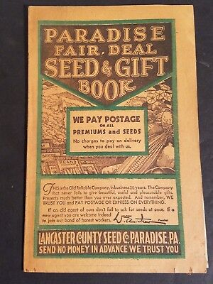 1937 LANCASTER COUNTY SEED CO. Paradise Seed and Gift Book PA