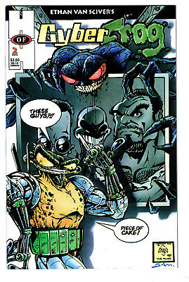 Cyberfrog #2 1St Print Hall Of Heroes Vf/nm Ethan Van Sciver 1994 Rare