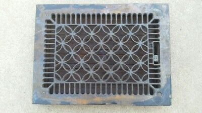 Antique Cast Iron  Floor Vent Grate Register With Working Louvers