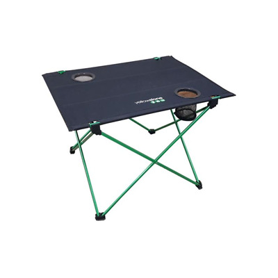 Yellowstone Lightweight Folding Table Green Frame / Black Top