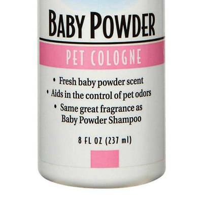 Baby Powder Scented Dog & Cat Cologne Grooming Mist Spritz - 8 oz Spray Bottle