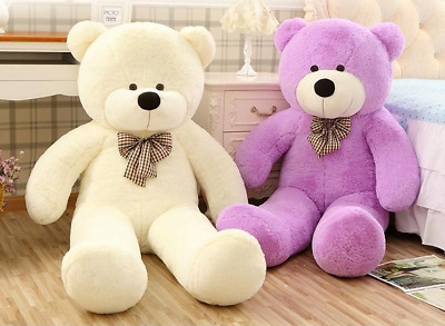 NEW Giant Big White Teddy Bear Plush Stuffed Soft Toys doll kids Gift 60-120cm