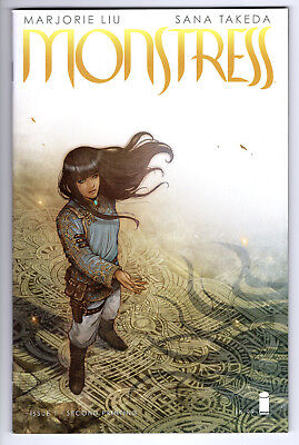 Monstress #1 2Nd Print Rare Marjorie Liu & Sana Takeda Vf 8.0 2015 Image
