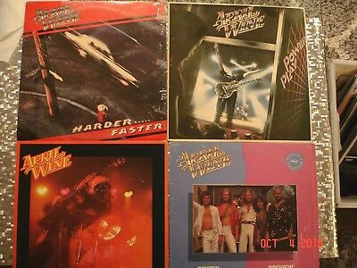 April Wine 4 LP LOT  The Nature of the Beast, Power Play, Harder Faster, Preview