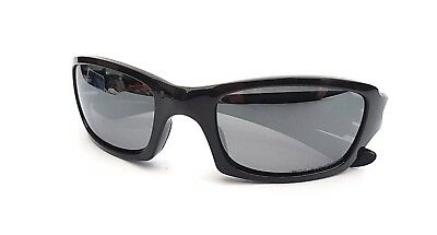 OAKLEY FIVES SQUARED SUNGLASSES Polarized Polished Black Black Iridium New 4b69213daf