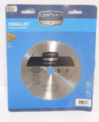 "Century Drill and Tool 08253 Cenalloy Circular Saw Blade | 5-1/2"" x 80T 
