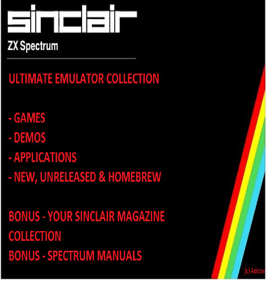 Sinclair Zx Spectrum Ultimate Collection Games & Bonus Your Sinclair & Manuals