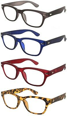Reading Glasses Soft Touch Readers Spring Hinges 4 Colors - For Men & Women 1914