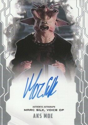 2017 Topps STAR WARS MASTERWORK Autograph Card Mark Silk as Aks Moe