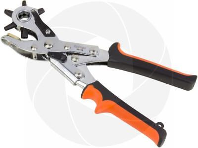 Heavy Duty Belt Leather Round Flat Oval Hole Puncher Punch Revolving Tool Pliers