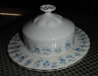 Vintage Royal Albert Memory Lane Covered Butter Dish Made In England