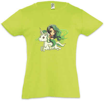 Mermaid & Unicorn Kids Girls T-Shirt Unicorns Fun Rainbow Fairies Mermaids Sea