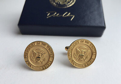 Dick Cheney -- Authentic U.S. Vice Presidential Seal 18K Solid Gold Cufflinks