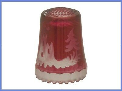 Vintage Leaded Glass Ullmannglass Thimble