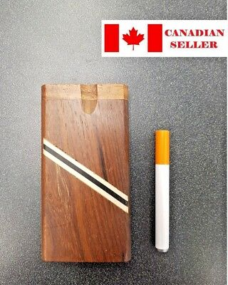 Wooden Dugout Pipe, for Dry Herb, Long, NEW. Smoking. Canadian Seller.
