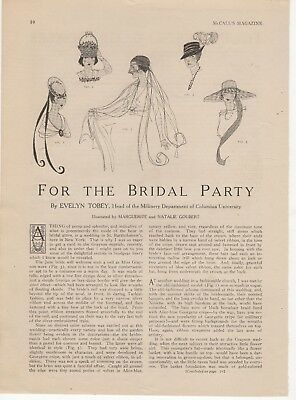 HEADWEAR FOR THE BRIDAL PARTY ~ MAGAZINE ARTICLE ~ JUNE 1917 McCALLS MAGAZINE