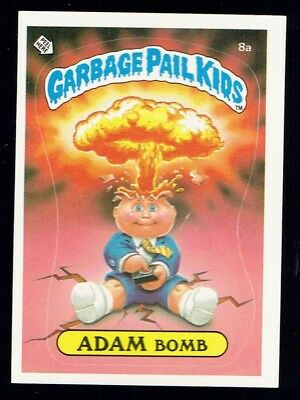 GARBAGE PAIL KIDS: 1ST SERIES, ADAM BOMB, 8a, MATTE, NM-, USA