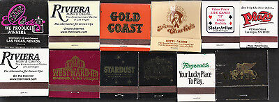 12 Different Vintage Las Vegas Casino Match Books/Covers - Downtown & The Strip