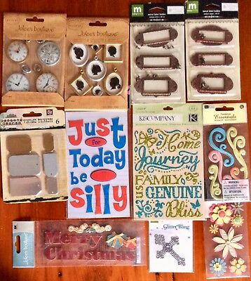 Bulk wholesaler bundle of 11 JOLEES & other brand embellishments 3D stickers #2