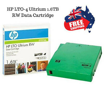 HP LTO-4 Ultrium 1.6TB RW Data Cartridge P/N: C7974A Brand New & Sealed