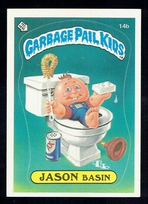 GARBAGE PAIL KIDS: 1ST SERIES, JASON BASIN, 14b, MATTE, EX/NM, USA