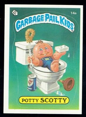 GARBAGE PAIL KIDS: 1ST SERIES, POTTY SCOTTY, 14a, MATTE, EX/NM, USA