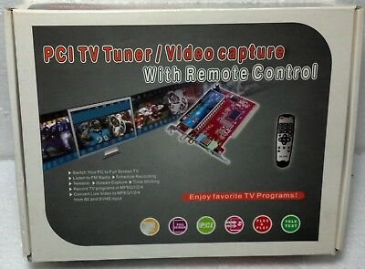 PCI TV Tuner / Video Capture new in box. Components sealed. Never used.