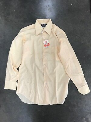 Vintage Men's Target Beige Cream Yellow Permanent Press Shirt Size 15.5 / 39cm