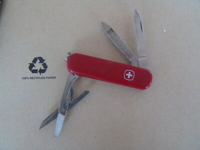 Great Used  Small Swiss Delemont Red Pocket Knife Free Postage