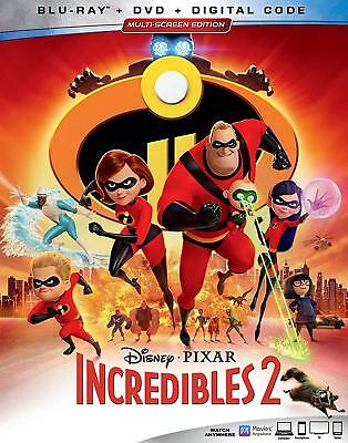 Disney's The Incredibles 2 Blu-ray +DVD (NO DIGITAL) 2018 Craig T. Nelson Pixar