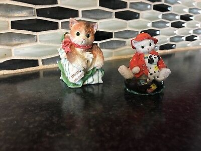 Vintage Friendship Theme Calico Kittens Lot of 2 by Priscilla Hillman